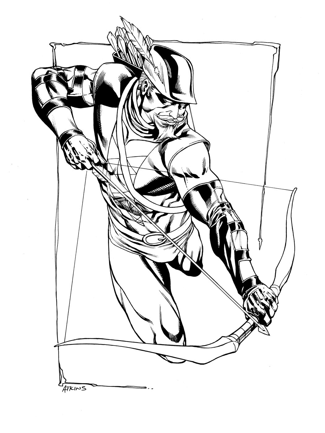 1050x1398 Green Arrow Coloring Pages Download