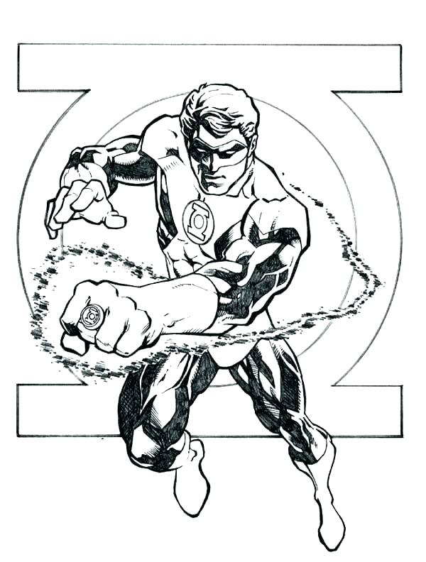 600x792 Green Lantern Coloring Pages Kids Coloring Coloring Page