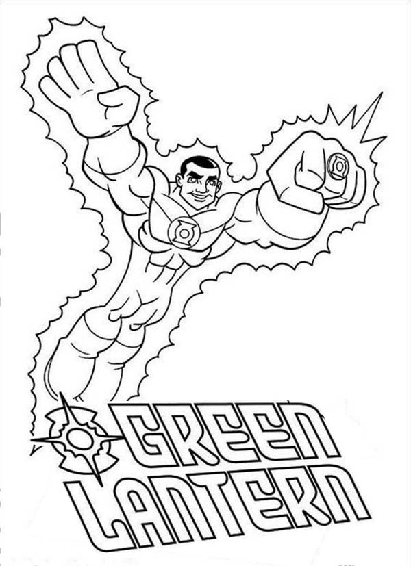 600x827 Green Lantern Coloring Pages