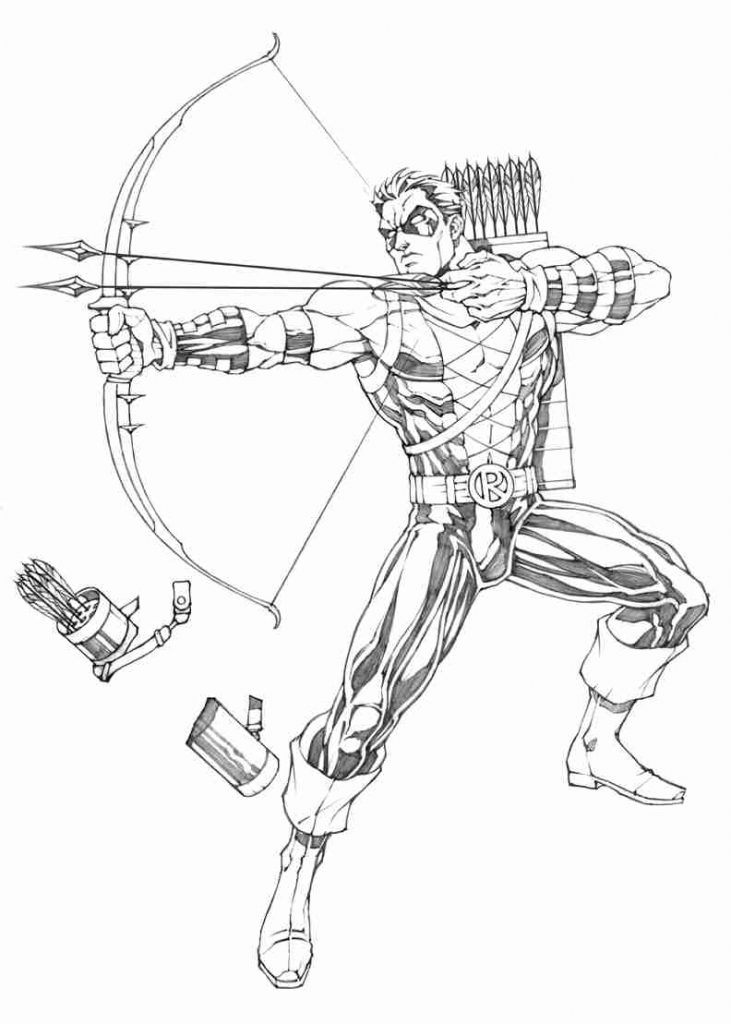 731x1024 Wonderful Green Arrow Coloring Pages