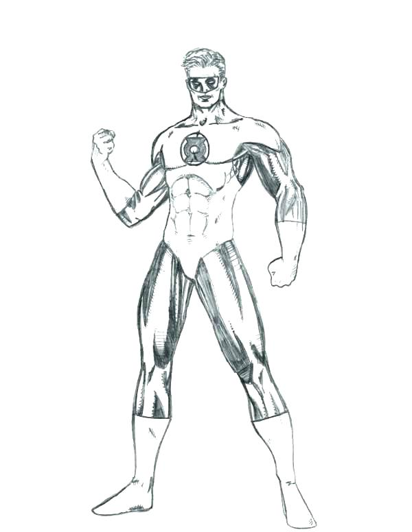 600x776 Green Lantern Coloring Pages Icontent