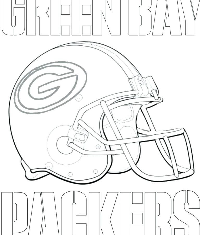 783x900 Logo Coloring Pages Football Helmet Green Bay Packers Coloring