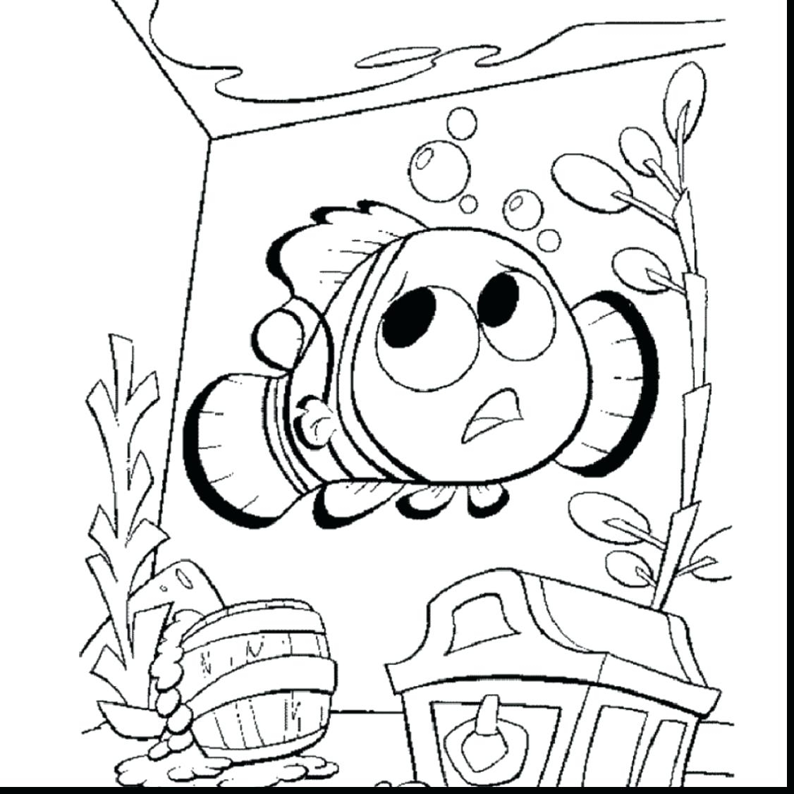 1126x1126 Coloring Nemo Printable Coloring Pages Finding Sheet Free New