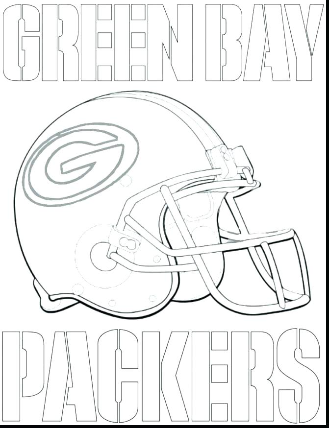 671x874 Coloring Pages Net Free Printable Green Bay Packer Packers Logo
