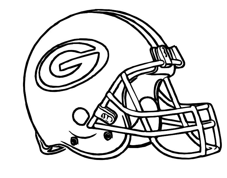 780x612 Football Helmet Green Bay Packers Coloring Pages Packers