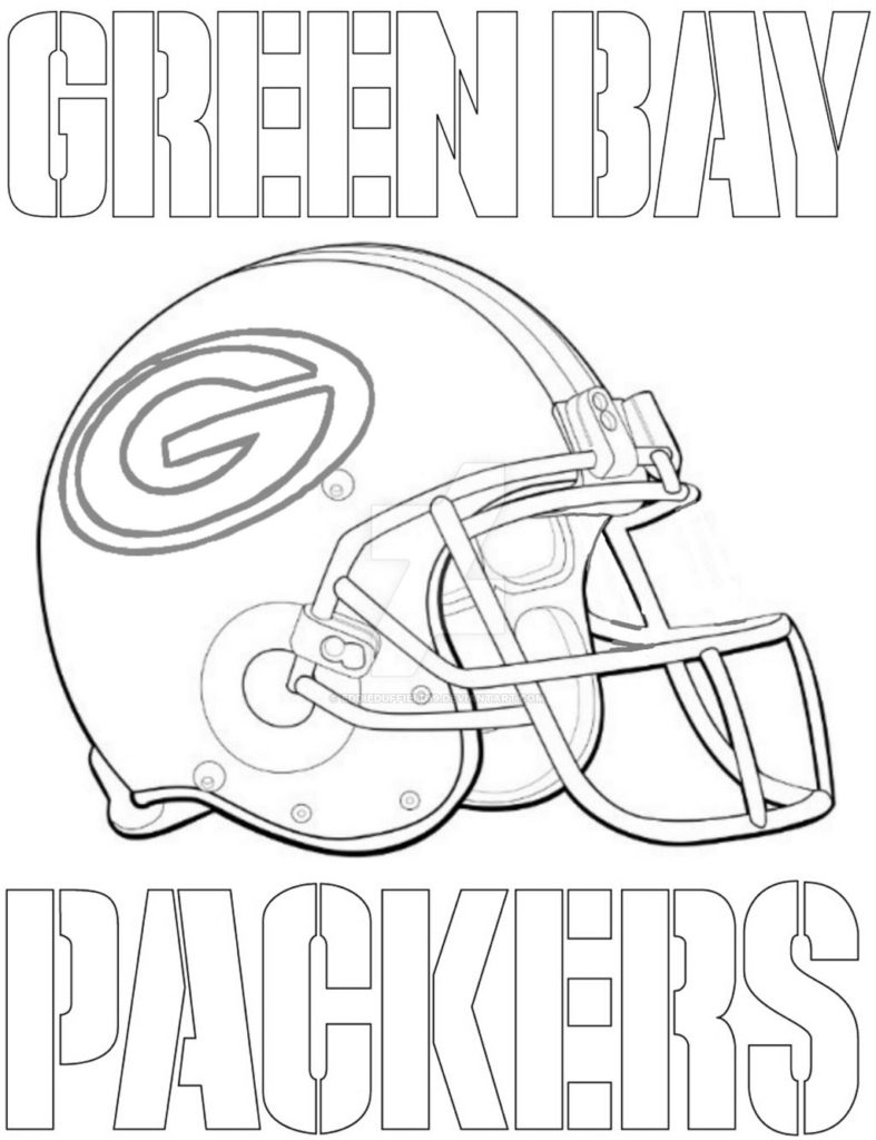 Green Bay Packers Helmet Coloring Page