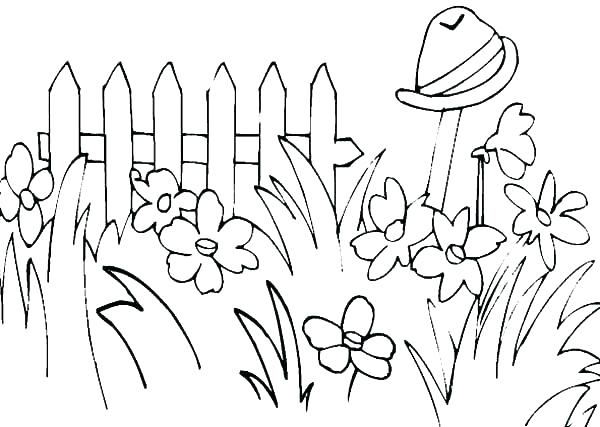 600x427 Grass Coloring Pages Grass Coloring Pages As Inspiring Green Grass
