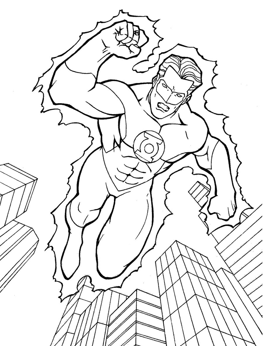 900x1182 Green Lantern Coloring Page Coloring Book