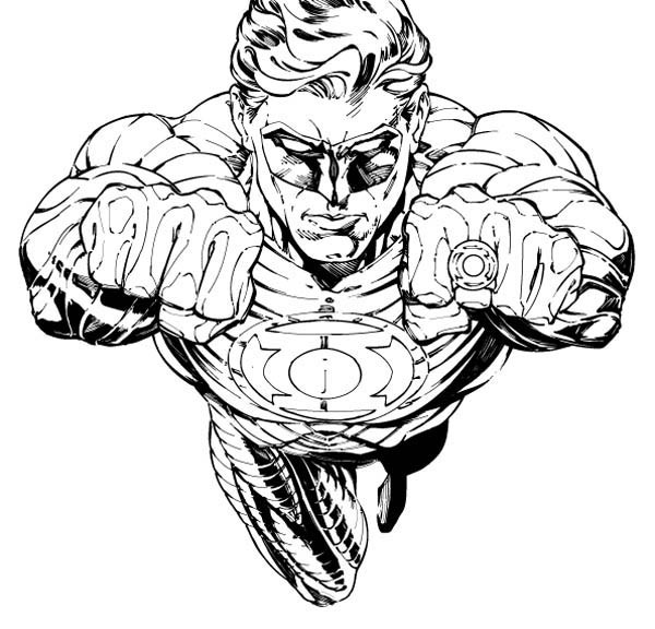 600x576 Green Lantern Coloring Pages