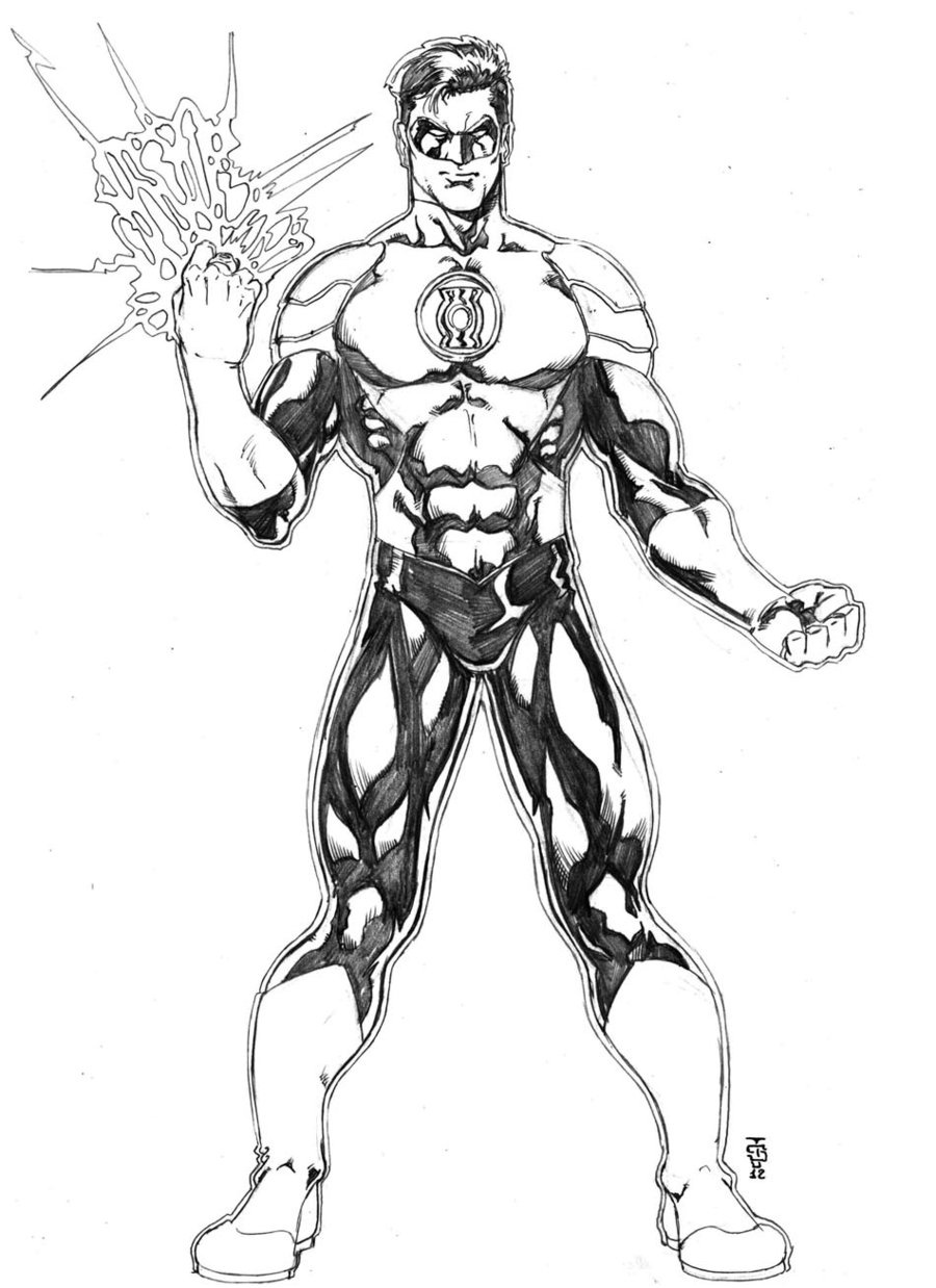 Green Lantern Coloring Pages At Getdrawings Com Free For Personal