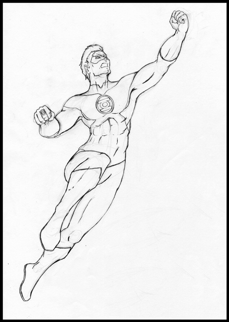 754x1060 Free Printable Green Lantern Coloring Pages For Kids
