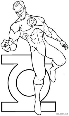 236x393 Green Lantern Coloring Pages For Kids, Printable Free Coloring
