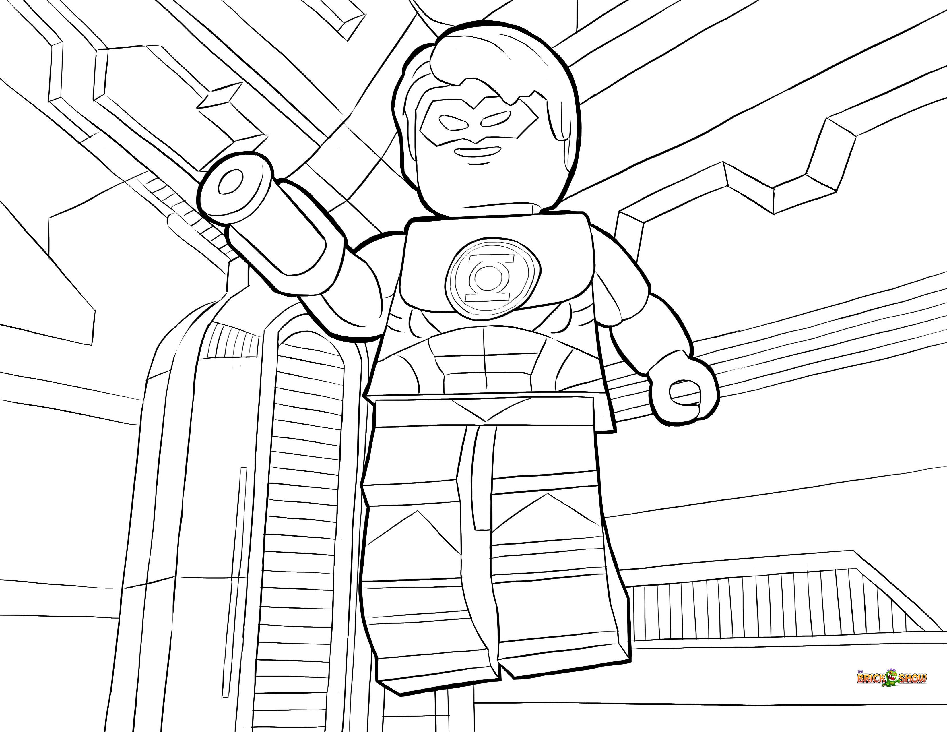 3300x2550 Lego Green Lantern Coloring Page, Printable Sheet