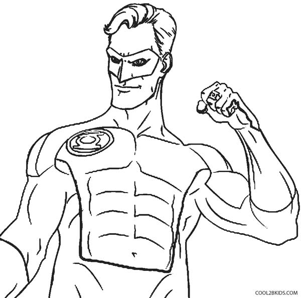 600x594 Printable Green Lantern Coloring Pages For Kids