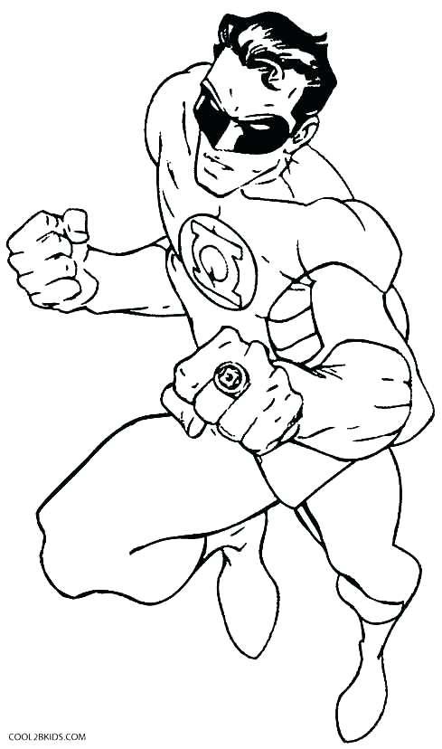 489x828 Printable Green Lantern Coloring Pages For Kids Green Lantern