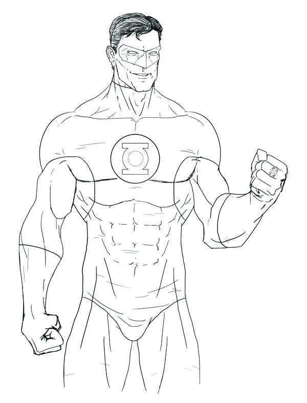 600x787 Green Arrow Coloring Pages Green Lantern Coloring Pages Great Page