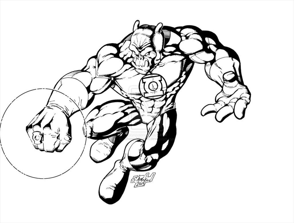 1024x778 Green Lantern Coloring Pages For Kids Printable Free Ribsvigyapan