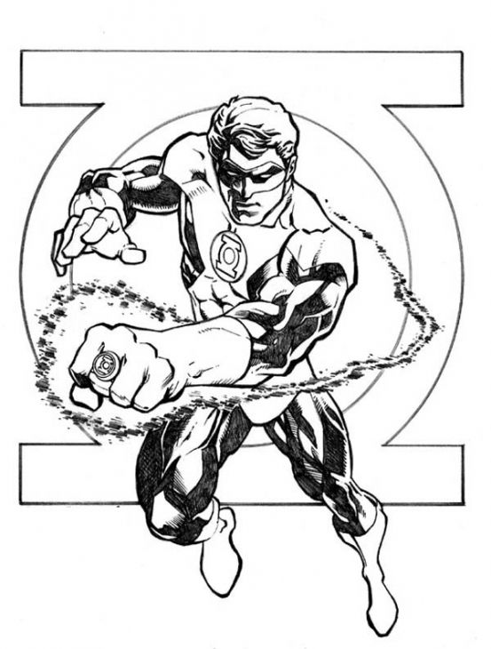 553x730 Green Lantern Coloring Page Superheroes Coloring Pages