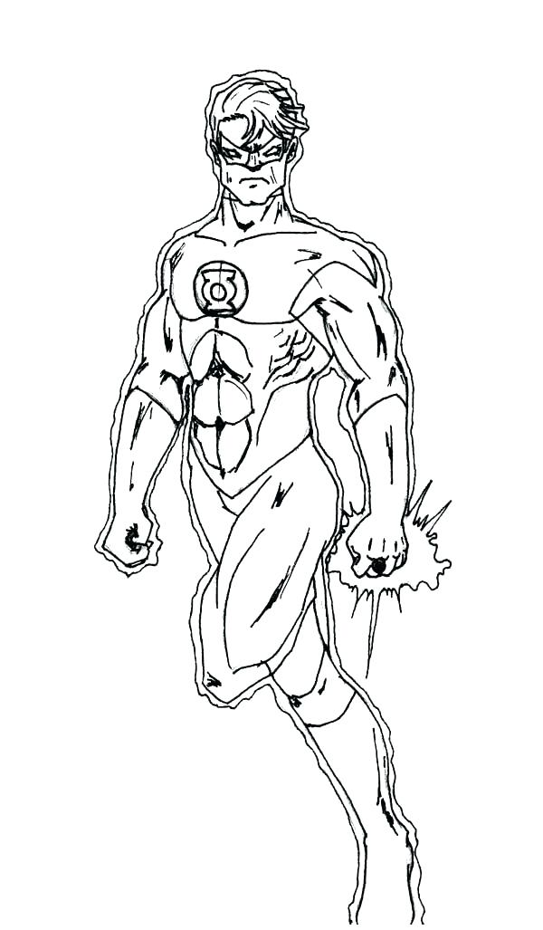 600x1027 Green Lantern Coloring Page Green Lantern Coloring Pages Free