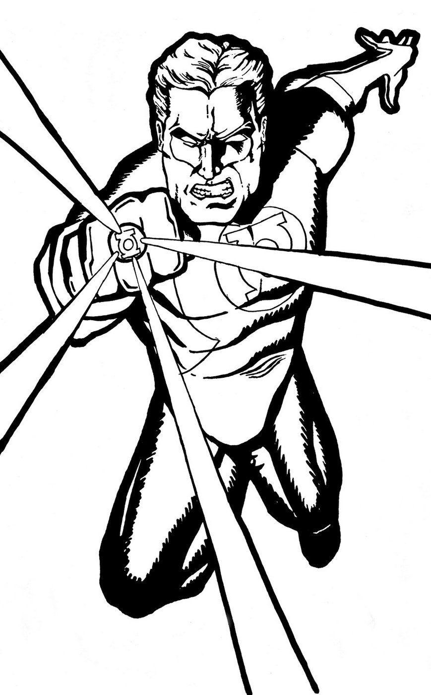 869x1400 Green Lantern Coloring Page Printable Superhero Coloring
