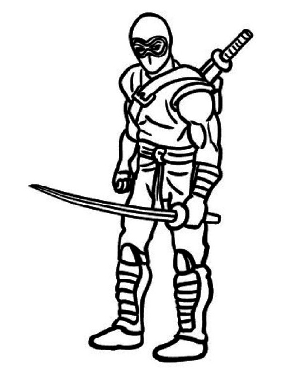 Green Ninja Coloring Page At Getdrawings Com Free For Personal Use