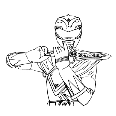 Green Power Ranger Coloring Page