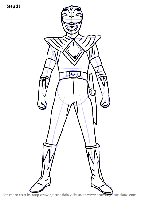 Green Power Ranger Coloring Page at GetDrawings.com | Free ...