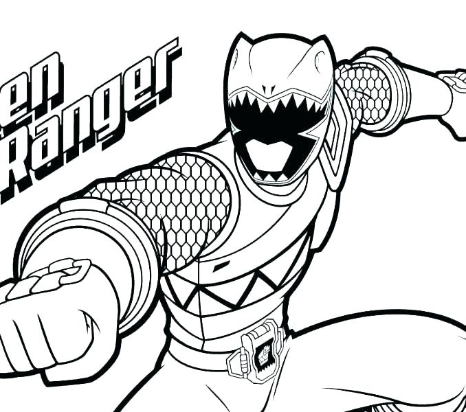 The Best Free Power Ranger Coloring Page Images Download
