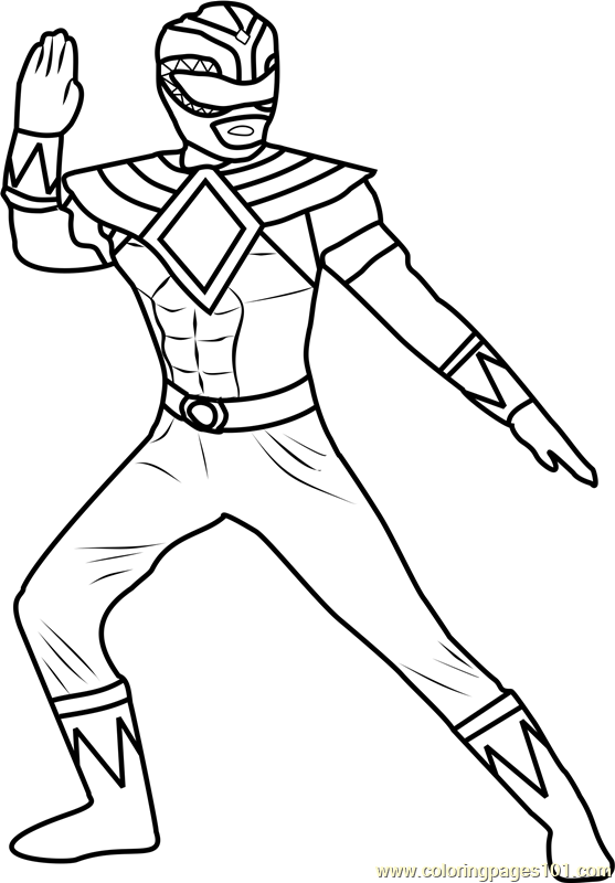 Green Power Ranger Coloring Page at GetDrawings.com | Free for ...