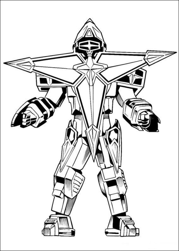 600x840 Power Rangers Coloring Pages