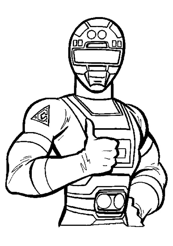 595x842 Black Power Ranger Coloring Pages