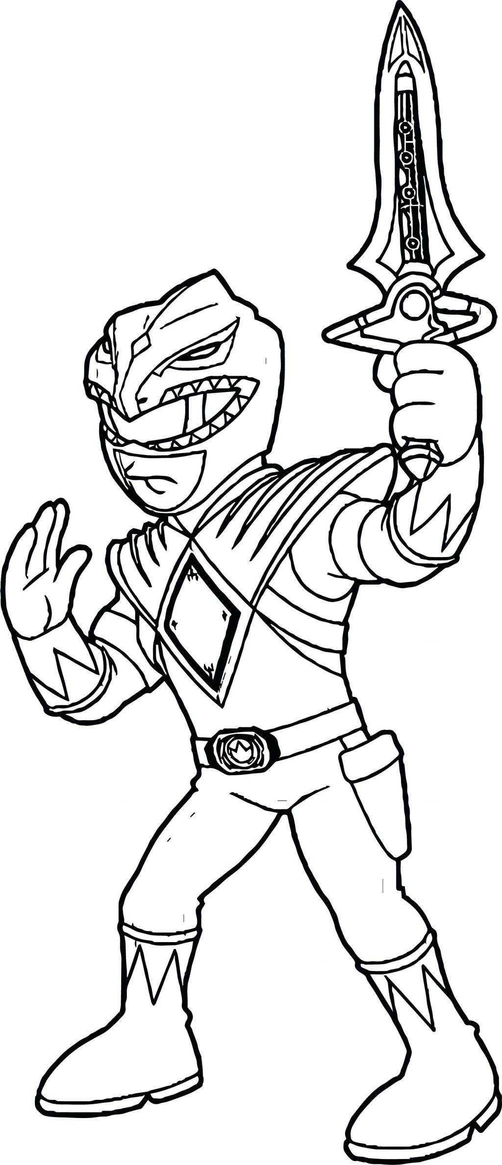 1024x2378 Coloring Page Power Rangers Coloring Page Green Ranger Free