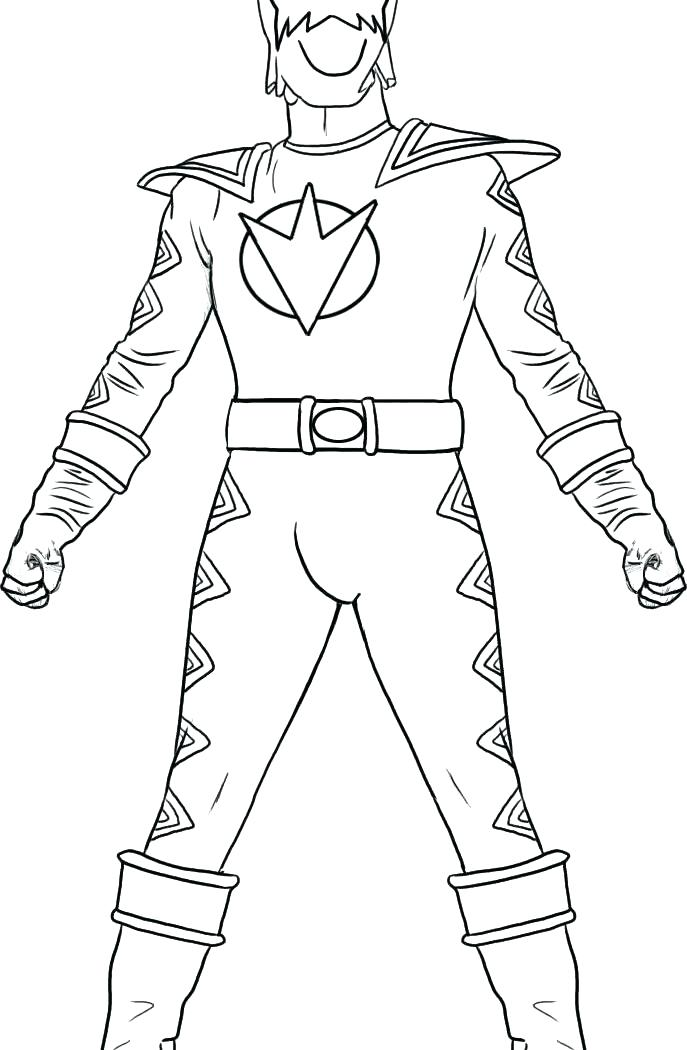 687x1050 Mighty Morphin Power Rangers Coloring Pages