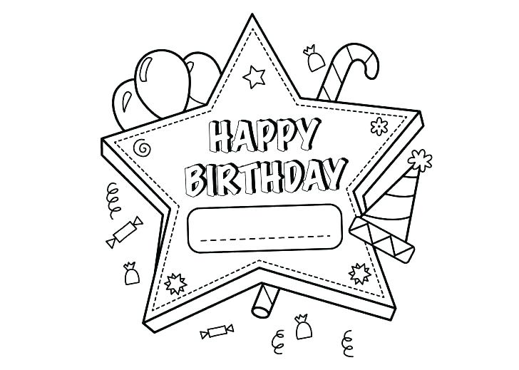 728x519 Happy Birthday Card Coloring Pages Happy Birthday Card Coloring
