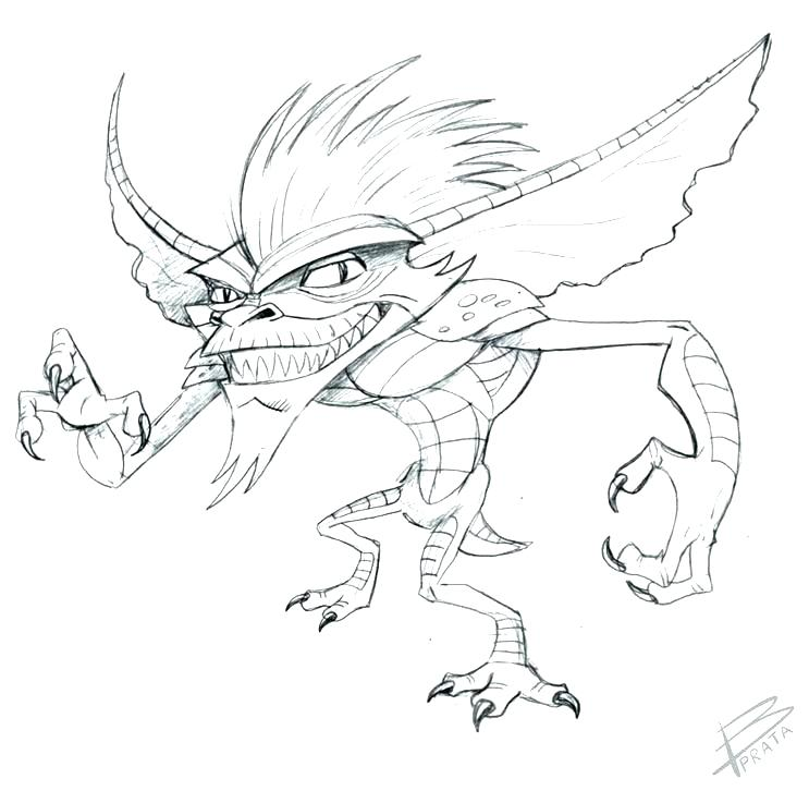 743x726 Glamorous Gremlins Coloring Pages Pink Coloring Page Pink Coloring