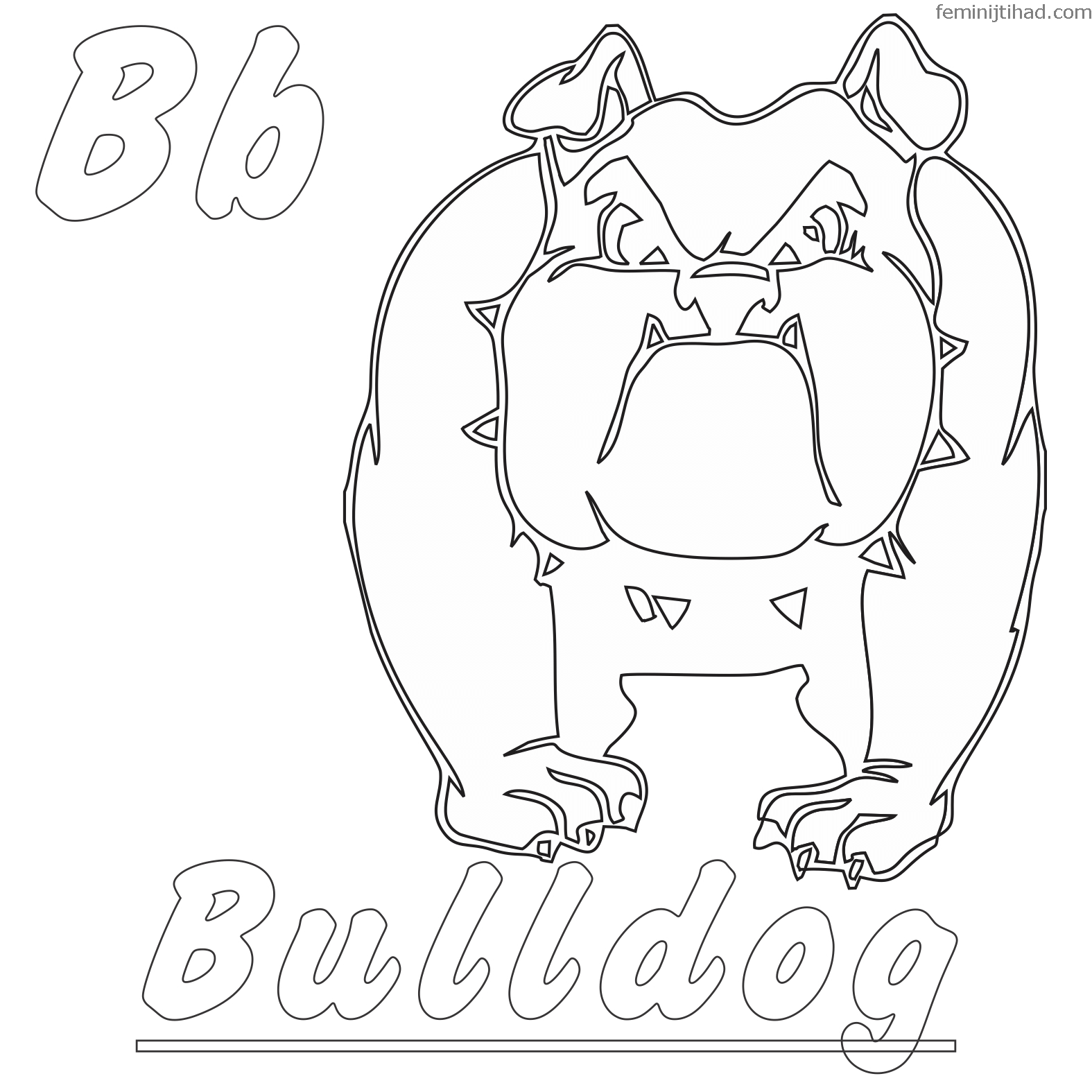 1575x1575 Bulldog Coloring Pages Free Download Coloring Pages For Kids