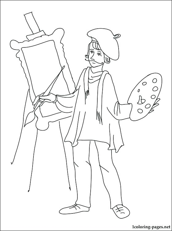 560x750 Italian Coloring Pages Artist Coloring Page Painter Coloring Page