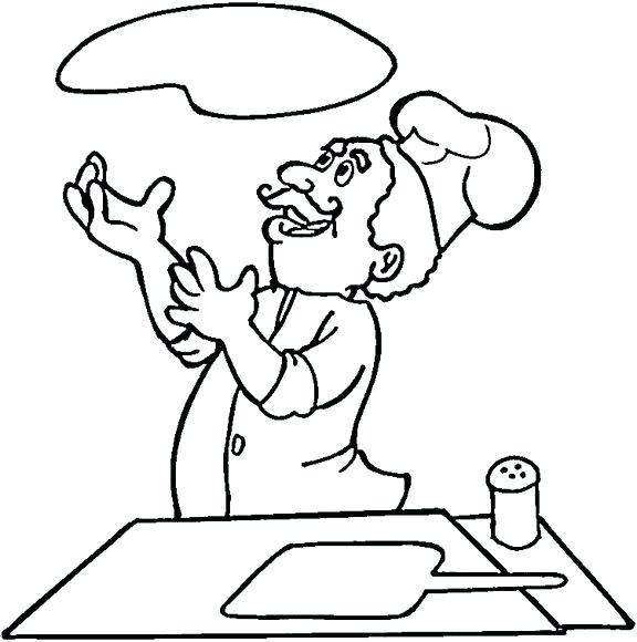 576x580 Italian Coloring Pages Is Cooking Pizza Coloring Page Italian