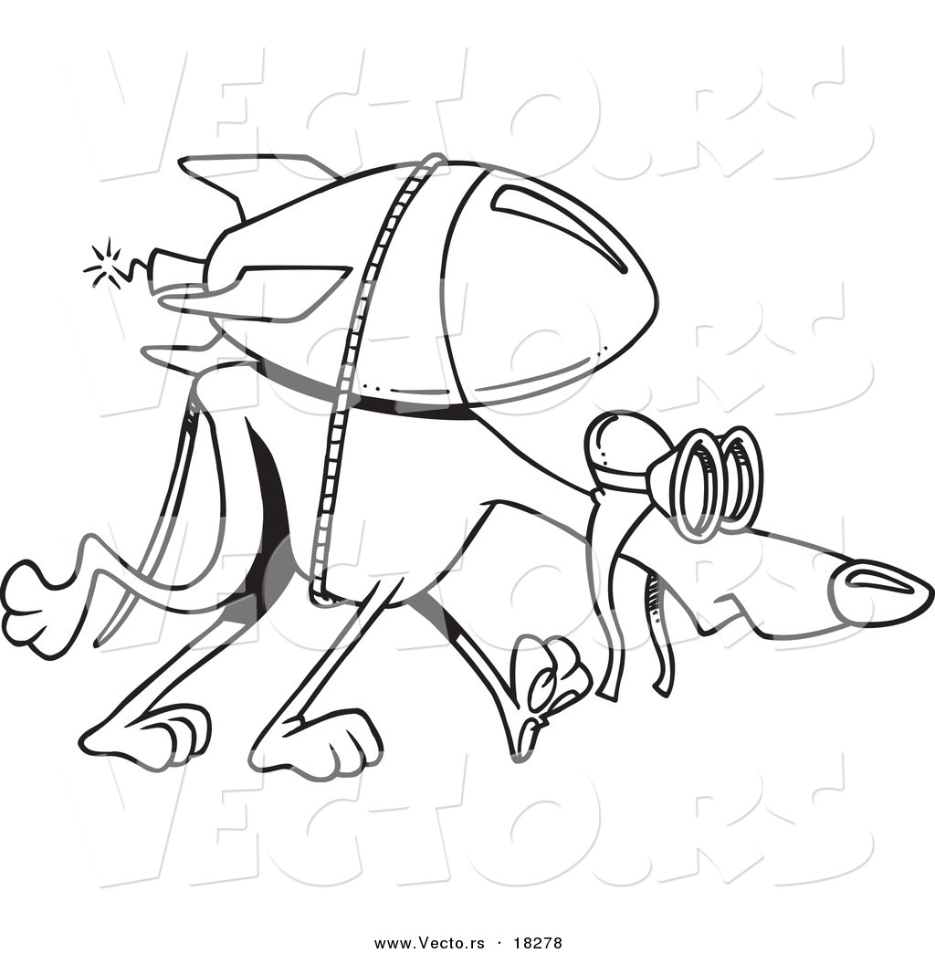 1024x1044 Vector Of A Cartoon Rocket Strapped To A Greyhound