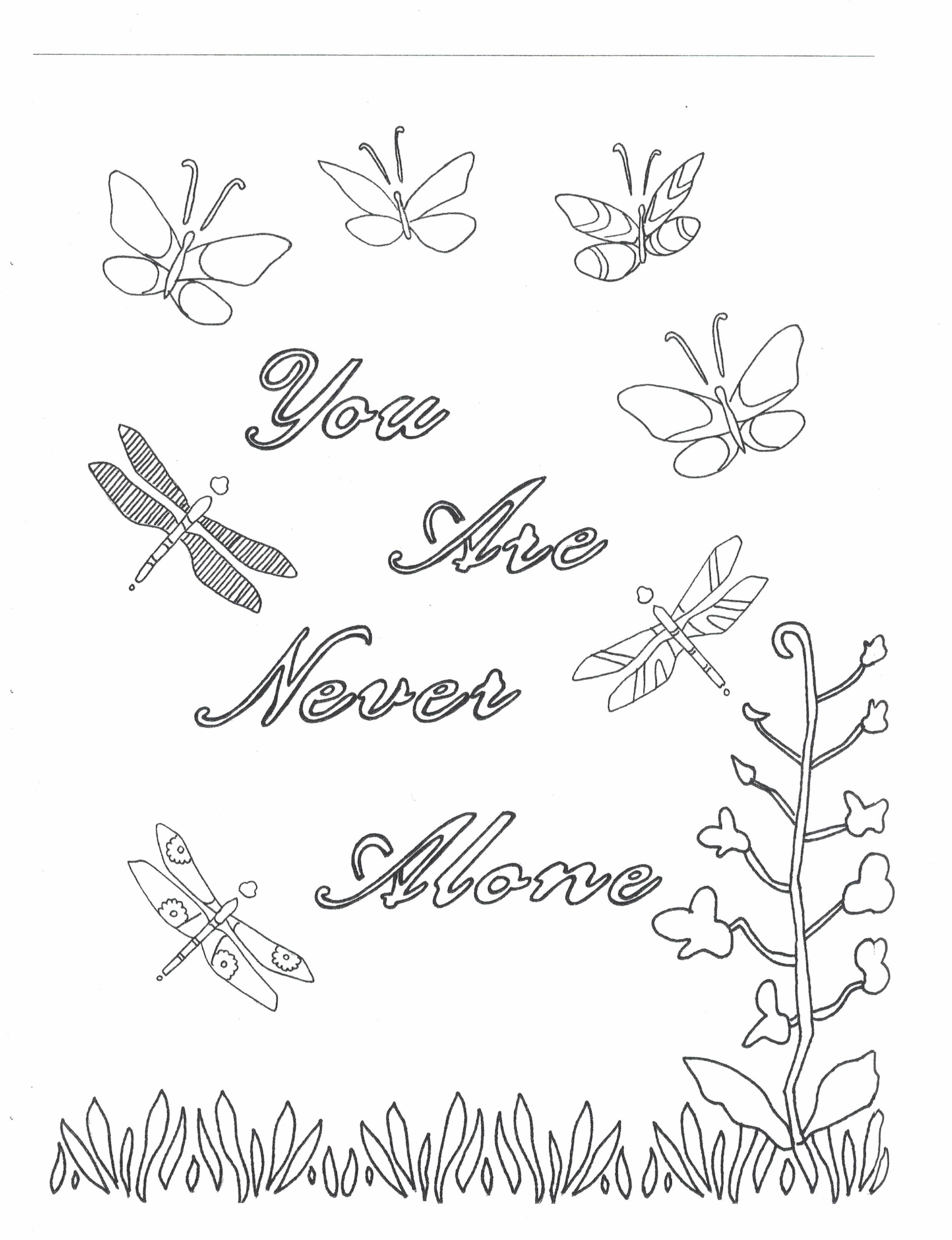 2479x3229 You Are Never Alone Coloring Page Etsy And Coloring Books