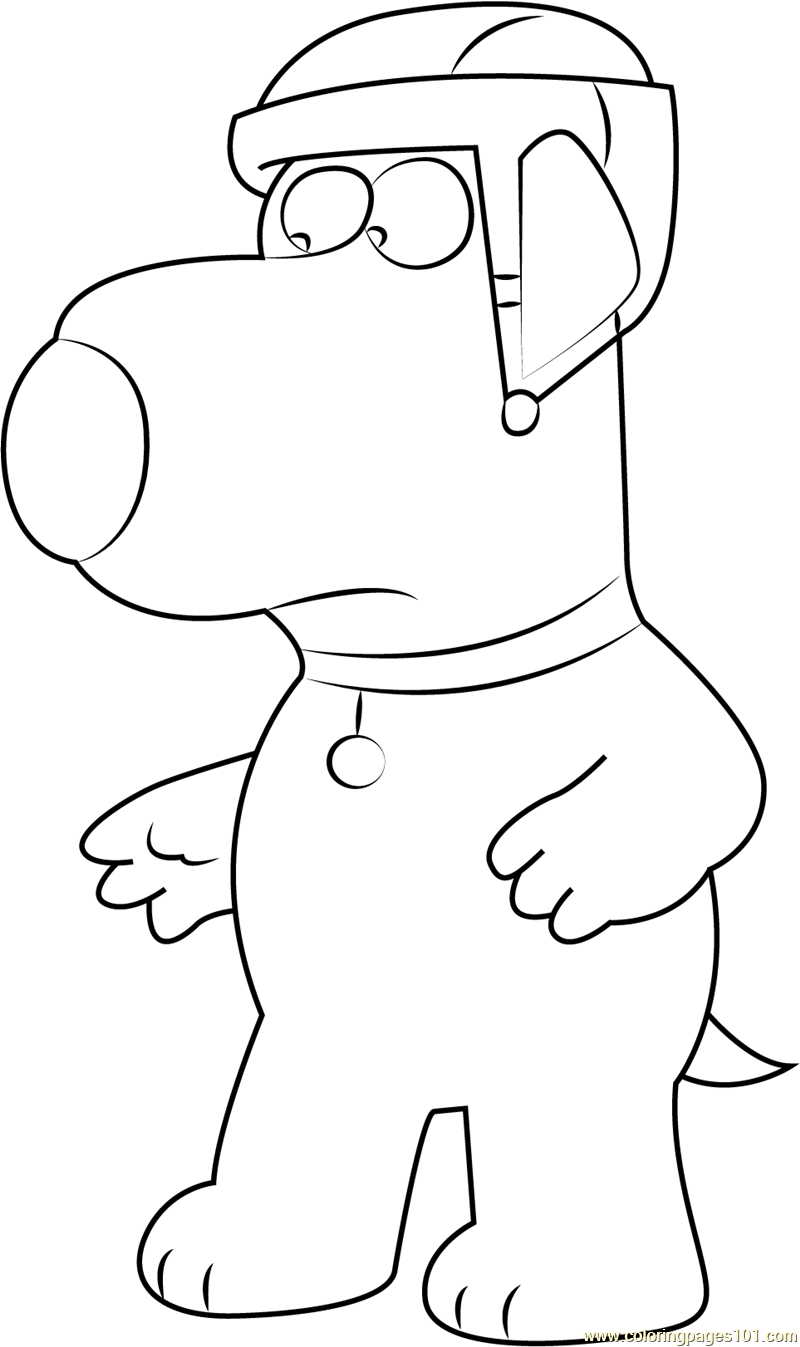800x1347 Brian Griffin Wearing Helmet Coloring Page