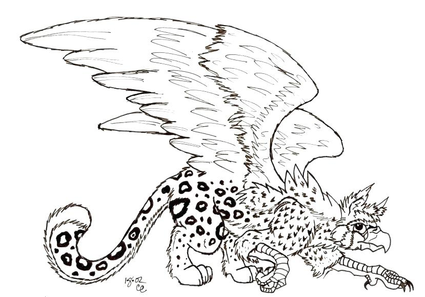 829x579 Drawn Griffon Griffin Coloring Page Vector Drawn Griffon Coloring