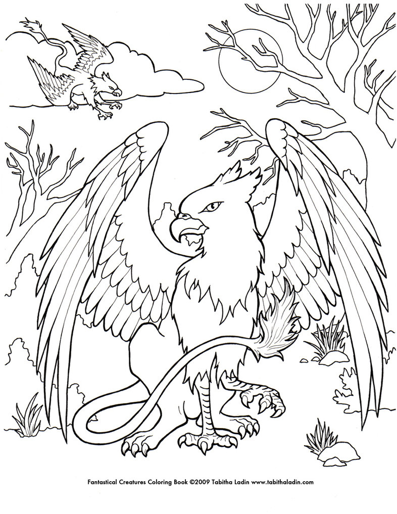 786x1017 A Page From My Fantastical Creatures Coloring Book Hand Drawn