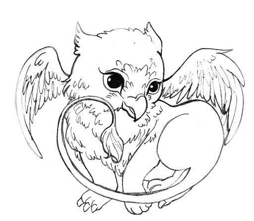 512x445 Baby Griffin Art Draw