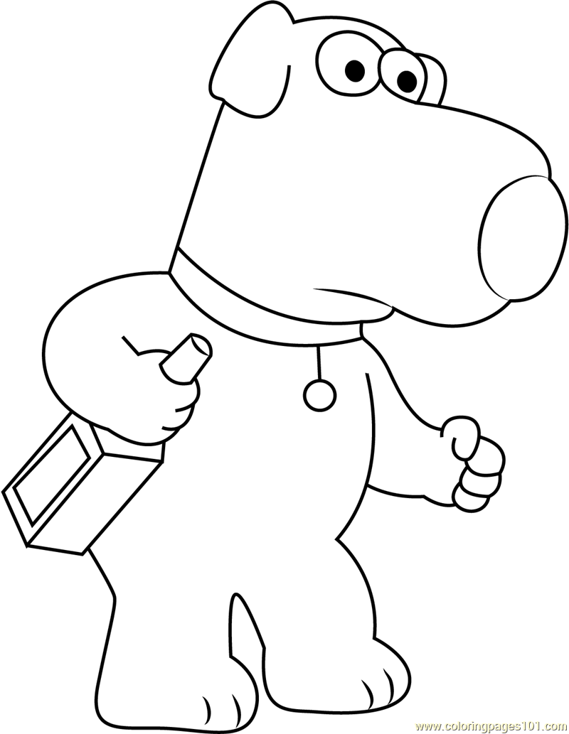 800x1033 Brian Griffin Sitting On Sofa Coloring Page