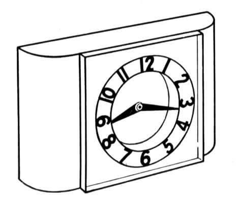 472x394 Clock Household Coloring Page