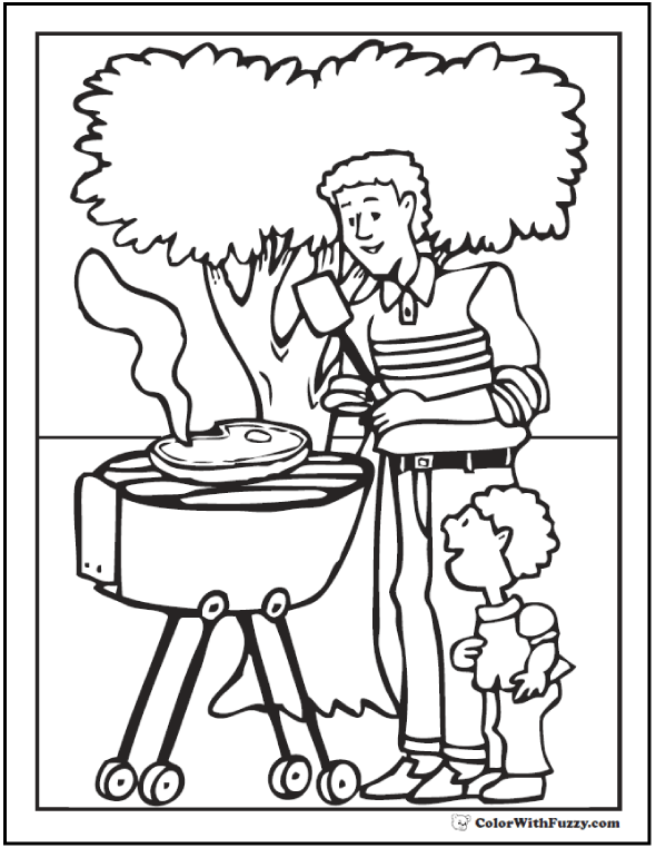 590x762 Fathers Day Coloring Pages Print And Customize For Dad