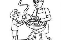 210x140 Grill Coloring Page Father And Son The Grill Coloring Page