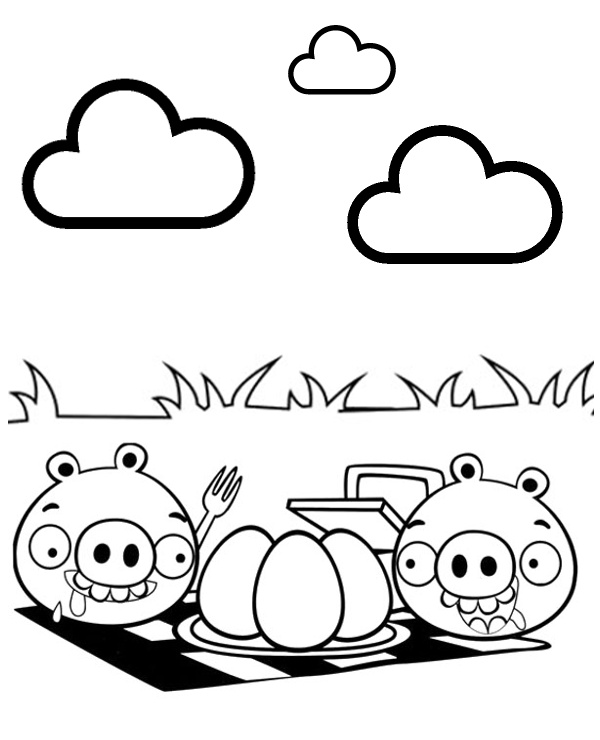 600x740 Angry Birds Pigs Grill To Print Or Download For Free
