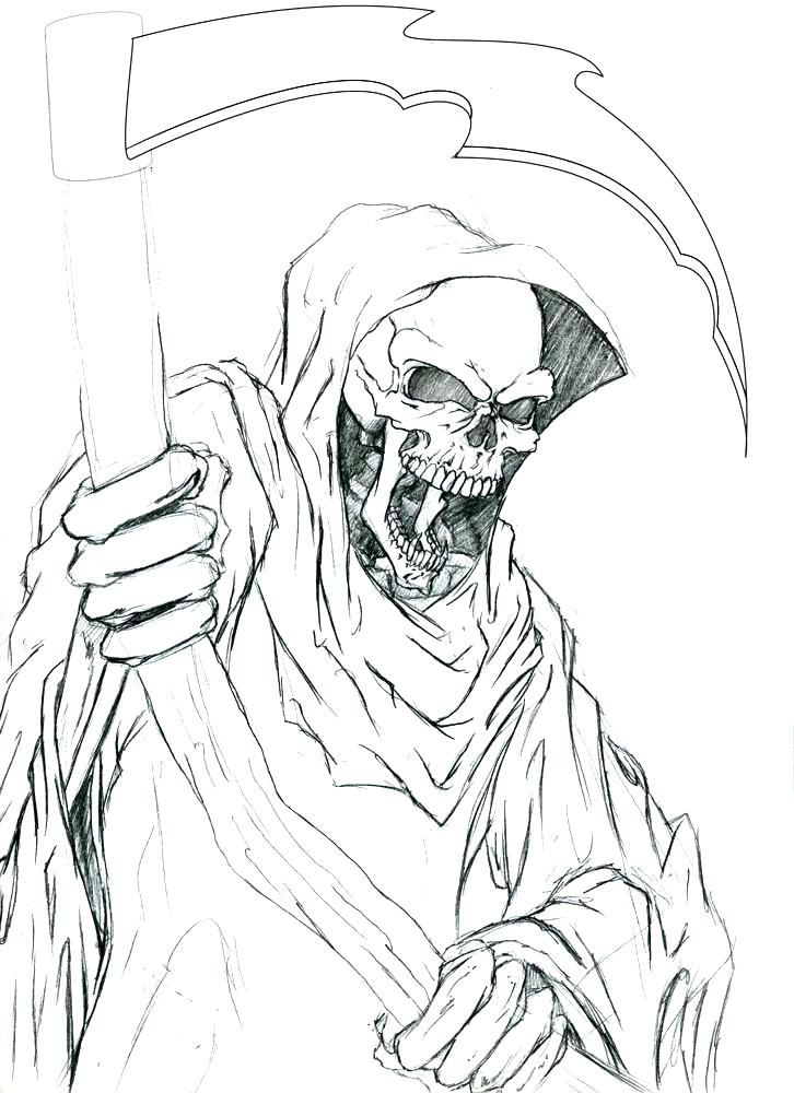 Grim Reaper Coloring Pages at GetDrawings | Free download
